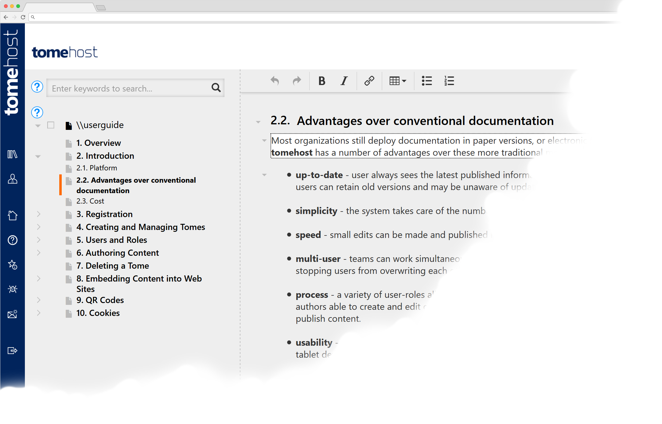 Create user guides and manuals, and provide one-click access